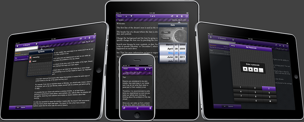 Dream Journal for iPhone, iPod Touch and iPad